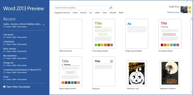 Starting From Blank Design Templates In The Word Microsoft - Word document design templates