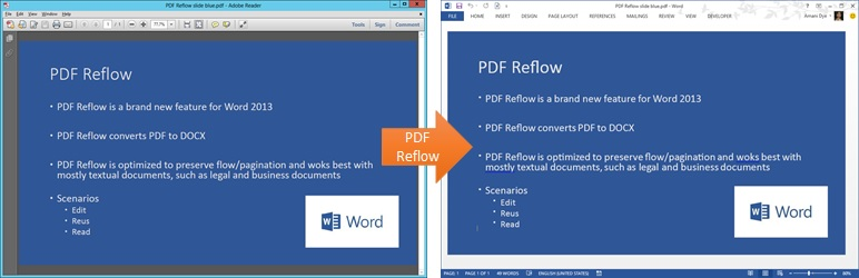 Screenshot of a PDF created from a PPT slide and opened in Word