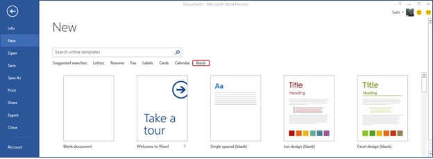 microsoft online templates for word
