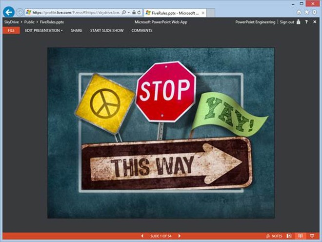 embedding presentations into your website with the powerpoint web