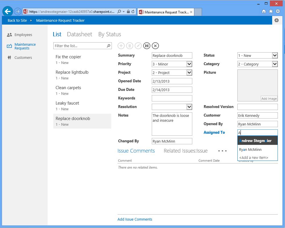 Write access for web server username