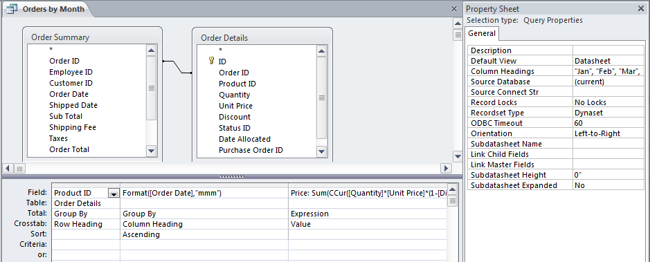 Using crosstab queries in reports - Microsoft 365 Blog