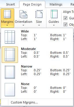 design and layout using margins and guides in your publications