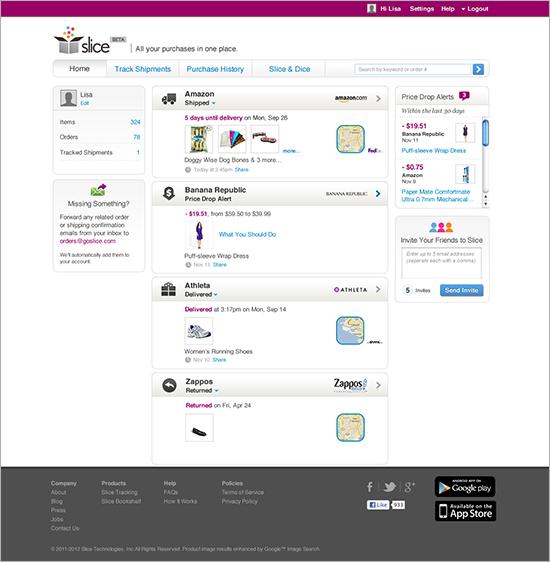 Slice web app