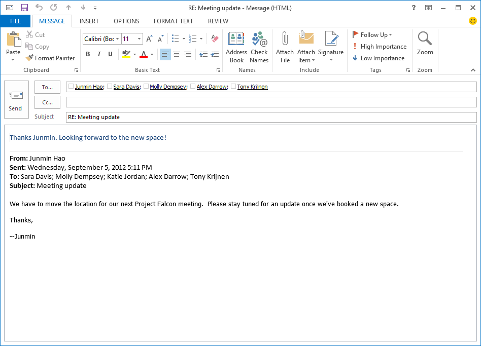 Quicker Replies In The New Outlook Microsoft 365 Blog