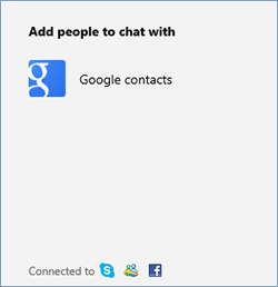 Google contacts prompt