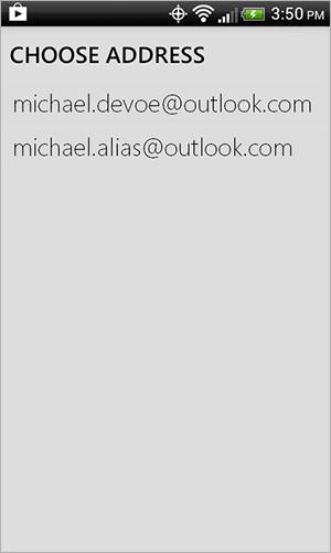Android app alias list