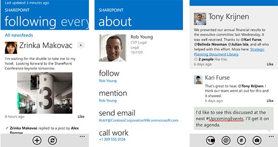 Out and about: New SharePoint mobile offerings - Microsoft