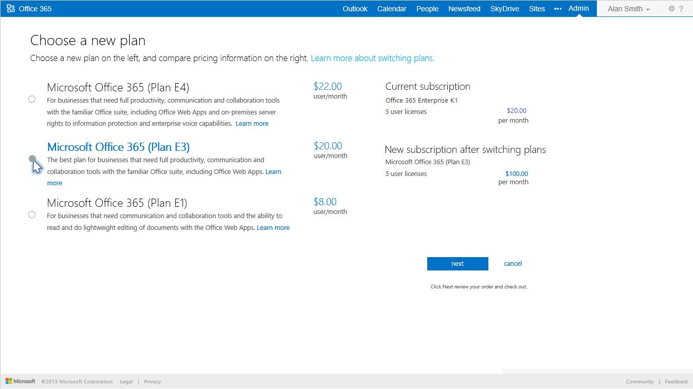 7; 8. 8 Office 365 Services E1 E3 ...