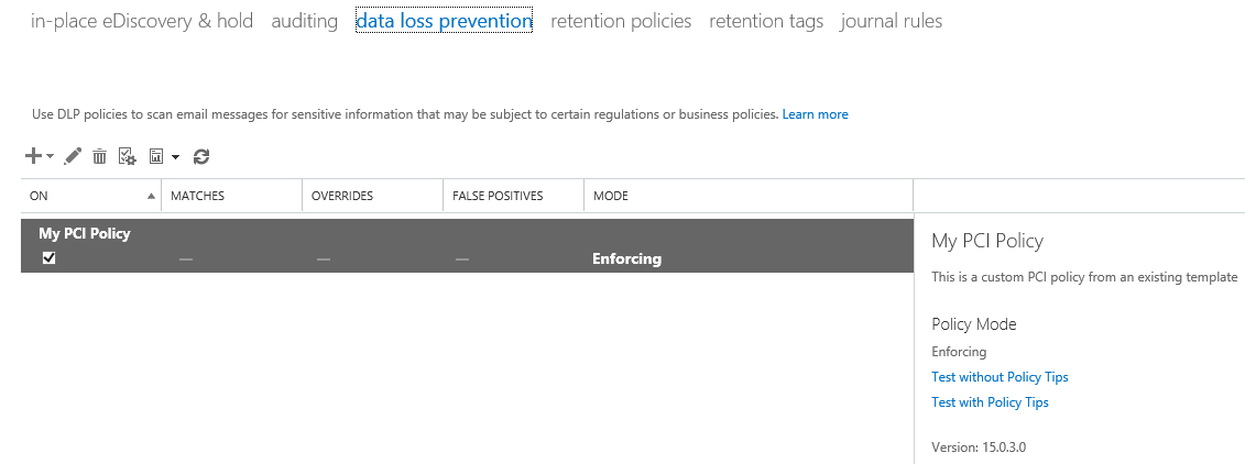 office 365 compliance controls  data loss prevention