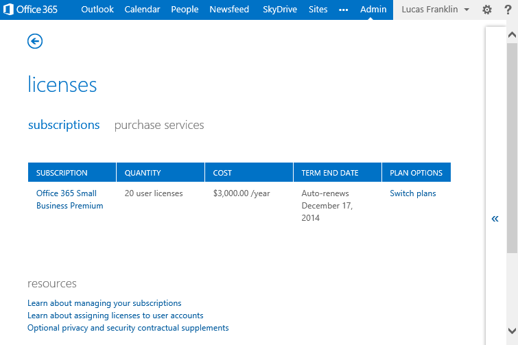 You can now switch plans to a different office 365 service family you can upgrade your plan to one in a different service family on the purchase services page in the licenses section of your admin center freerunsca Gallery