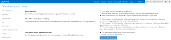 Enabling AADRM rights management for Office 365 tenant on the AADRM portal