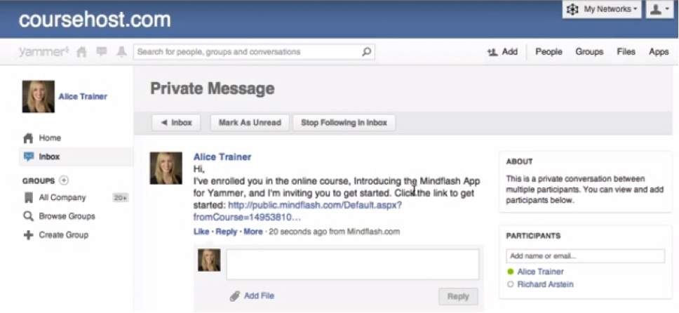 Yammer and Featured Partner Mindflash Deliver the Best