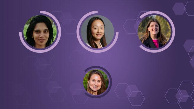 4 women in circles