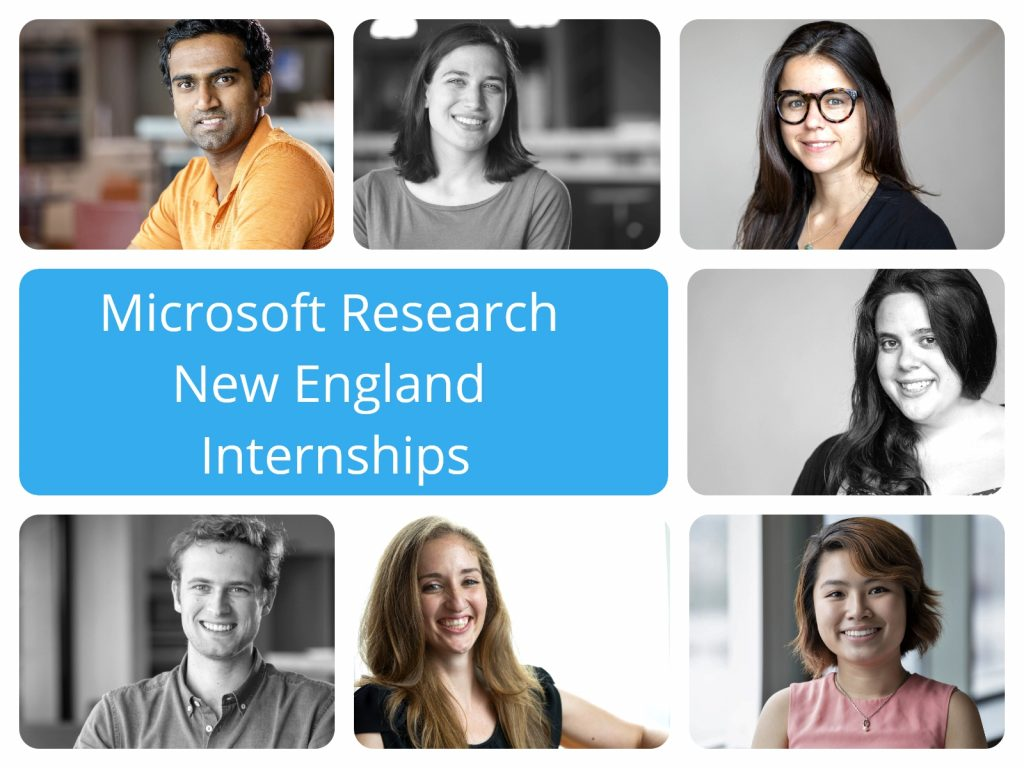 Image of a group of interns that work at Microsoft Research
