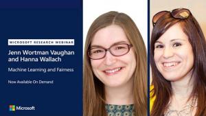 Webinar promo - photo of Jenn Wortman Vaughan and Hanna Wallach