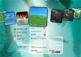 screenshot of the Kodu game load / community screen