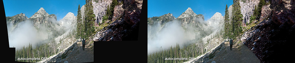 Image Composite Editor's Automatic image completion feature