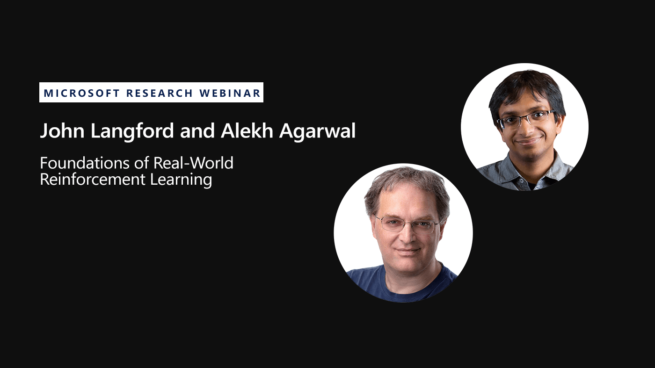 webinar title and picture of two researchers