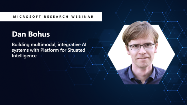 a picture of dan bohus on the right next to the title of his webinar