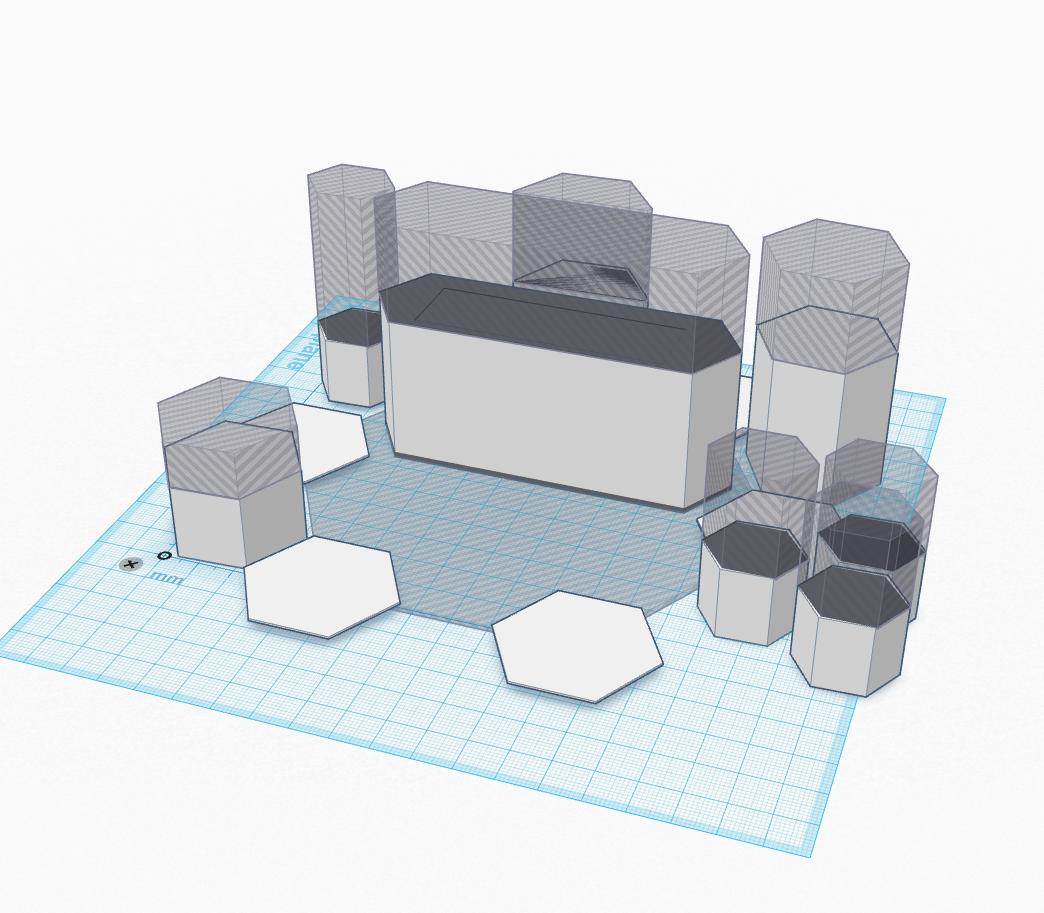 Food Futures 3D cad model of floor layout