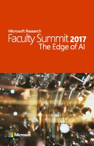2017 Faculty Summit Agenda
