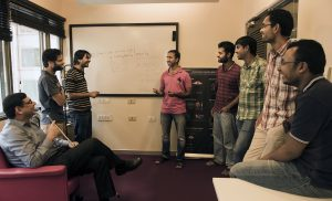 Researchers in the Microsoft Research India lab