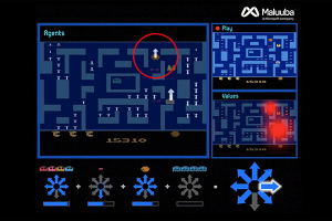 Hybrid Reward Architecture Maluuba arrows screenshot