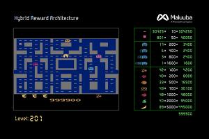Hybrid Reward Architecture Ms Pac-Man levels screenshot