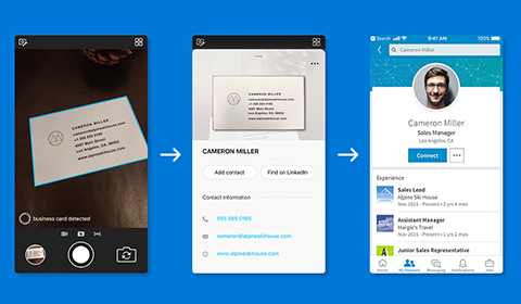 Image associated with Microsoft Pix's AI gets even smarter, Business Card feature works with LinkedIn to make it easier than ever to manage your contacts