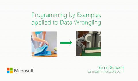 Data Wrangling using Programming by Examples