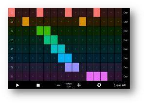 Screen shot of Microsoft Hands-Free Sound Machine