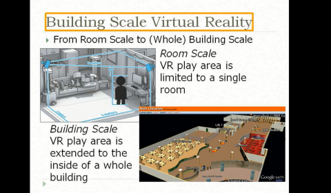Building Scale VR: Automatically Creating Indoor 3D Maps and its Application to Simulation of Disaster Situations