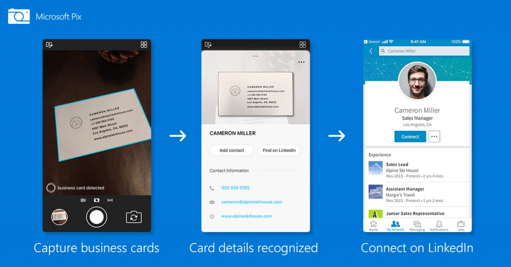 Microsoft Pix\'s AI gets even smarter, Business Card feature works ...