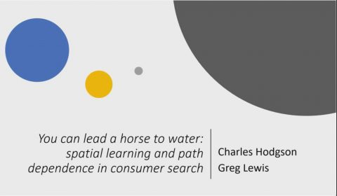 You Can Lead a Horse to Water Spatial Learning and Path Dependence in Consumer Search