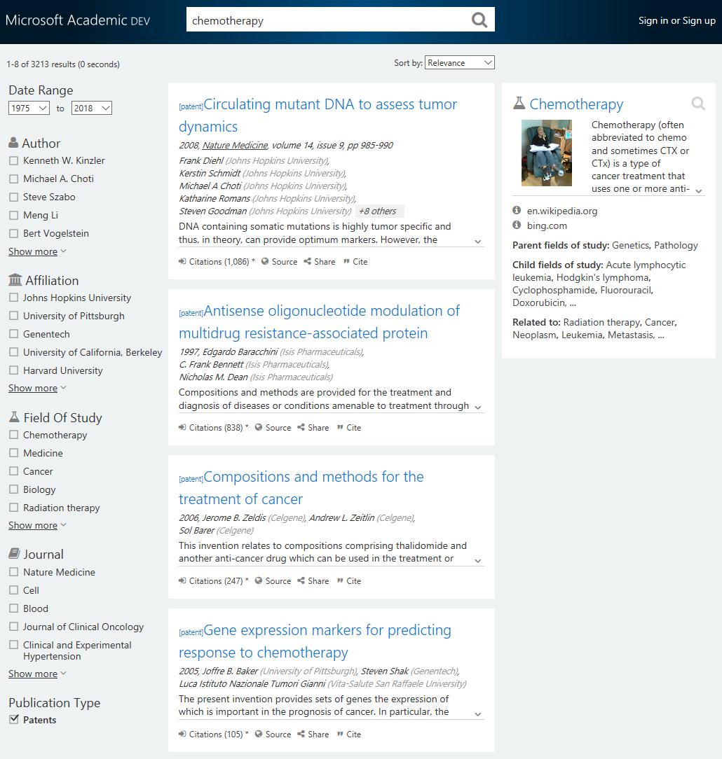 Microsoft Academic Dev