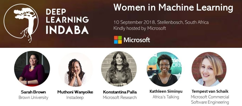 The 2018 Women in Machine Learning lineup.