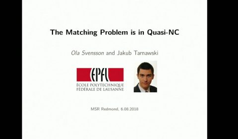 The Matching Problem in General Graphs is in Quasi-NC STILL