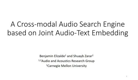 cross modal audio search STILL