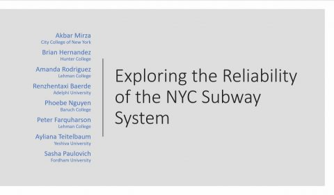 exploring the reliability of the NYC subway system STILL