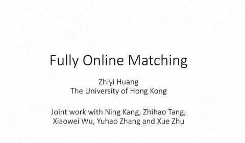 fully online matching STILL