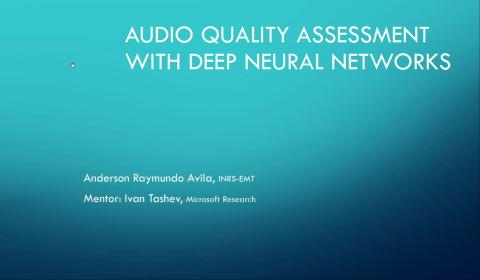 Deep Neural Network Models for Audio Quality Assessment STILL