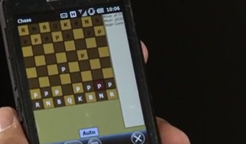 Image of chess being played on phone to describe Project Maui
