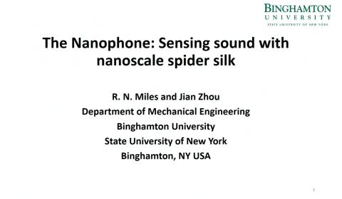 The Nanophone: Sensing Sound with Nanoscale Spider Silk