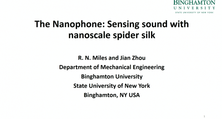 The Nanophone: Sensing Sound with Nanoscale Spider Silk