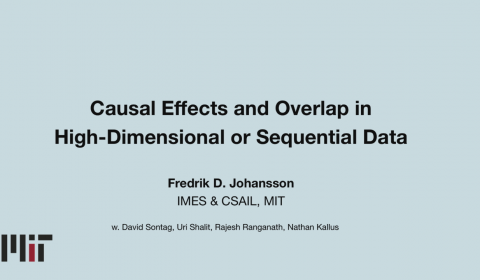 Causal Effects and Overlap in High-dimensional or Sequential Data