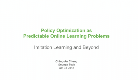 Image attached to Policy Optimization as Predictable Online Learning Problems: Imitation Learning and Beyond