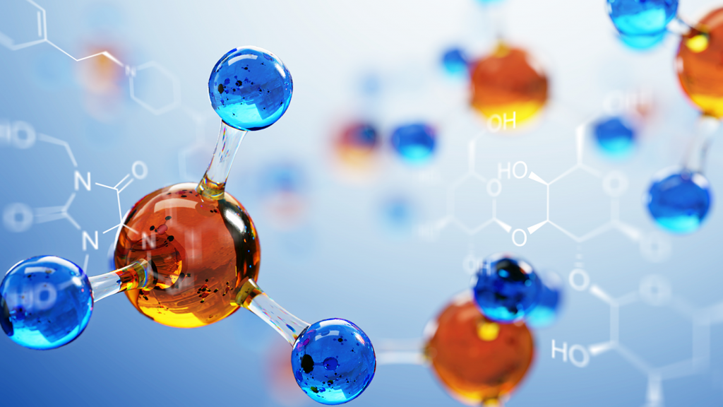 molecules, stock image