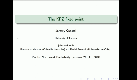 The 20th Northwest Probability Seminar: The KPZ Fixed Point