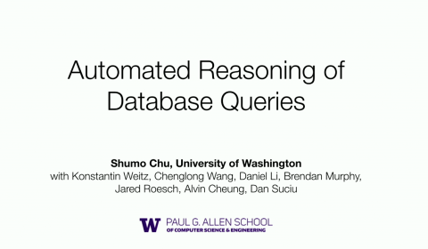 Automated Reasoning of Database Queries